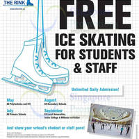 The Rink FREE Ice Skating Admissions For ITE & Poly Students & Staff 1 - 31 May 2015