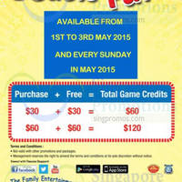 Read more about Timezone 100% Extra Double Dollar Sundays Promo 3 - 31 May 2015
