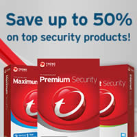 Trend Micro Up To 50% OFF Spring Savings Sale 1 - 30 Apr 2015