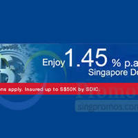 Read more about UOB 1.45% p.a. 13-mth Fixed Deposit Promo 1 - 30 Apr 2015