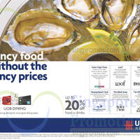 Read more about UOB Up To 20% Off Dining Offers 22 Apr - 31 Dec 2015