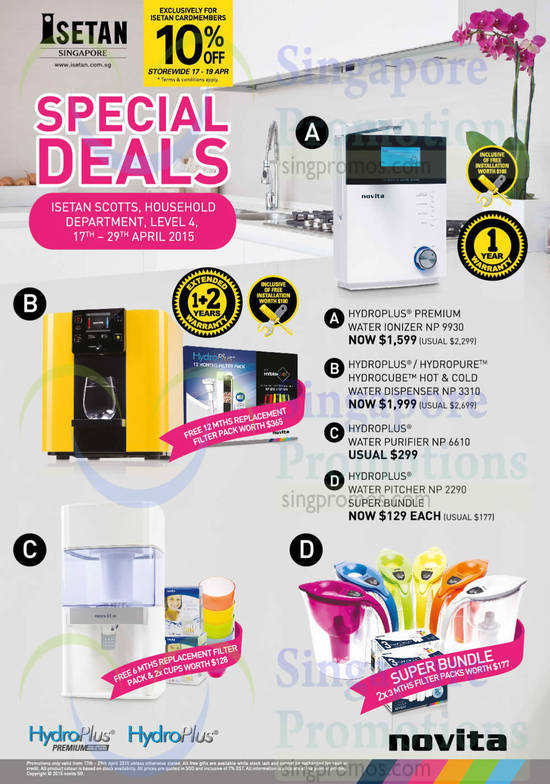 Water Ionizer, Dispenser, Purifier, Pitcher