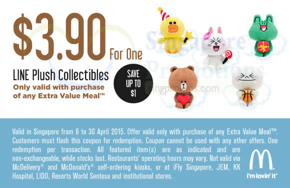 (With Purchase of EVM) 3.90 Line Plush Collectibles