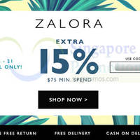 Read more about Zalora 15% OFF Storewide Coupon Code (inc Sale Items) 15 - 21 Apr 2015