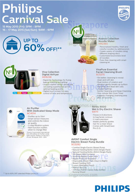 14 May Offers Without Prices, Air Fryer, Air Purifier, Avance Collection, Shaver, Visapure, Avent (1)