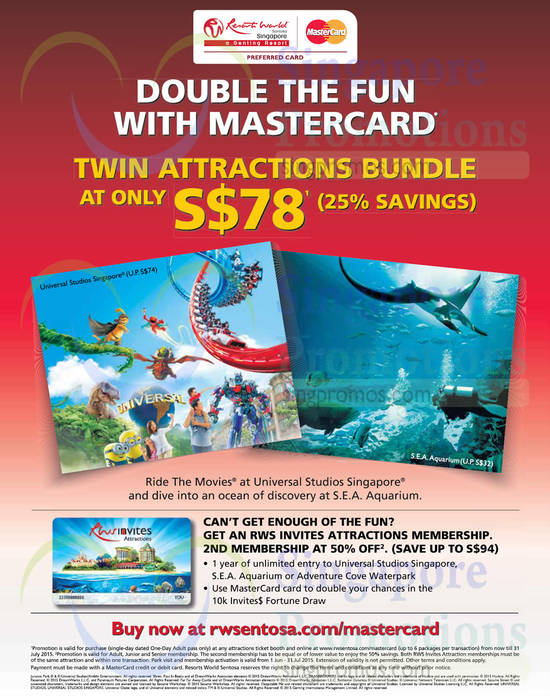 3 jun twin attractions bundle at 78 dollar universal for Attraction 78