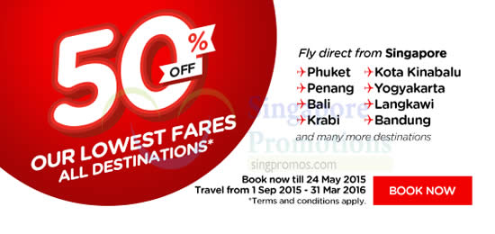 50 Percent Off All Destinations