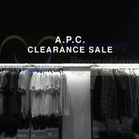 A.P.C. Flagship Store 50% Off Clearance Sale From 29 May 2015