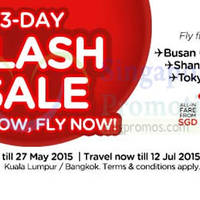Air Asia 3-Day Flash Sale 25 - 27 May 2015
