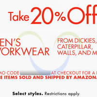 Amazon.com 20% OFF Men's Workwear (NO Min Spend) Coupon Code 7 - 19 May 2015