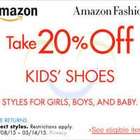 Read more about Amazon.com 25% OFF Kids' Shoes (NO Min Spend) Coupon Code 9 - 15 May 2015