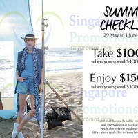 Banana Republic Spend $400 & Get $100 Off 29 May - 1 Jun 2015