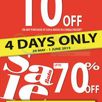 Bata Spend $50 & Get 10% Off 29 May - 1 Jun 2015