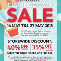 Read more about Bookaburra Closing Down Sale @ Forum the Shopping Mall 16 - 27 May 2015