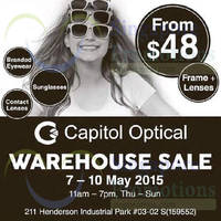 Capitol Optical Warehouse SALE 7 - 10 May 2015