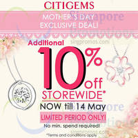 Citigems 10% Off Storewide Promotion 7 - 14 May 2015
