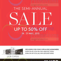 Read more about Coach Semi-Annual Sale 14 - 31 May 2015