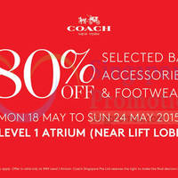 Read more about Coach Up To 80% Off @ IMM 18 - 24 May 2015