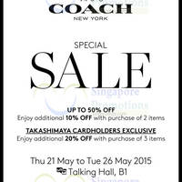 Read more about Coach Special Sale @ Takashimaya DS 21 - 26 May 2015