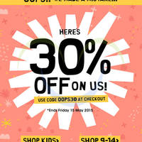 Read more about Cotton On Kids 30% Off Online Promotion 1 - 15 May 2015