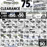 Read more about Courts Sleep Clinic Up To 75% Off Clearance 8 - 10 May 2015