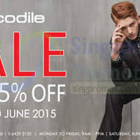 Crocodile Clearance Sale 29 May - 30 Jun 2015
