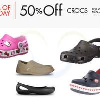 Read more about Crocs 50% Off Selected Shoes 24hr Promo 15 - 16 May 2015
