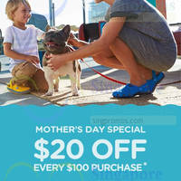 Read more about Crocs Spend $100 & Get $20 Off Purchase Mother's Day Special 7 - 10 May 2015
