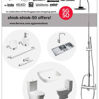 Ferrara Bathroom & Kitchen SG50 Promotions 7 - 30 May 2015