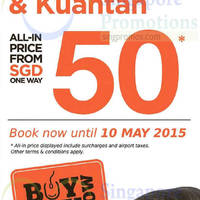 Firefly fr $50 (all-in) Promo Fares 7 - 10 May 2015
