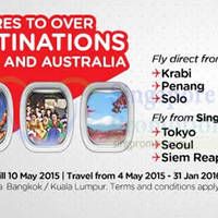 Air Asia fr $40 (all-in) Promo Fares 4 - 10 May 2015