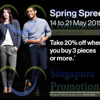 Read more about Gap Buy 3pcs & Get 20% Off 16 - 21 May 2015