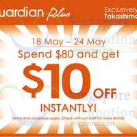 Read more about Guardian Plus Spend $80 & Get $10 Off @ Ngee Ann City 18 - 24 May 2015