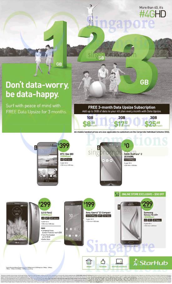 HTC One M9, Asus Zenfone 2 ZE550ML, LG G Flex2, Sony Xperia Z3 Compact, Samsung Galaxy S6