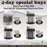 Read more about HoneyFarm 4-Day Special Buys @ Takashimaya Department Store 14 - 17 May 2015