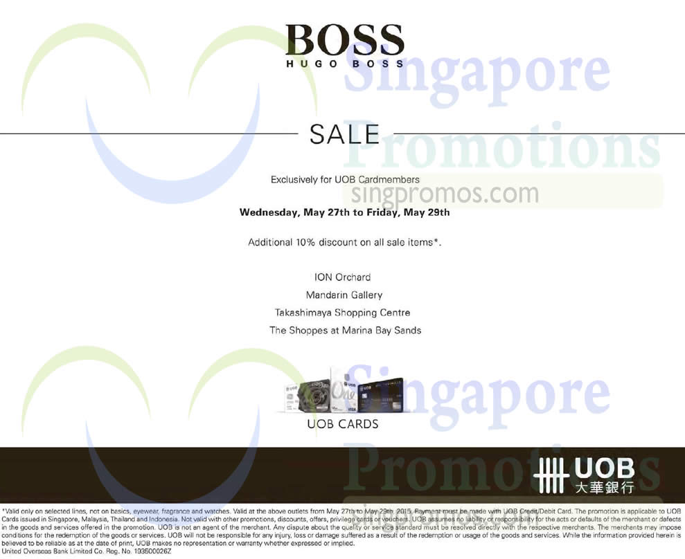 Hugo Boss 27 May 2015