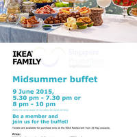 IKEA Midsummer Buffet Tickets Now Available 27 May - 9 Jun 2015