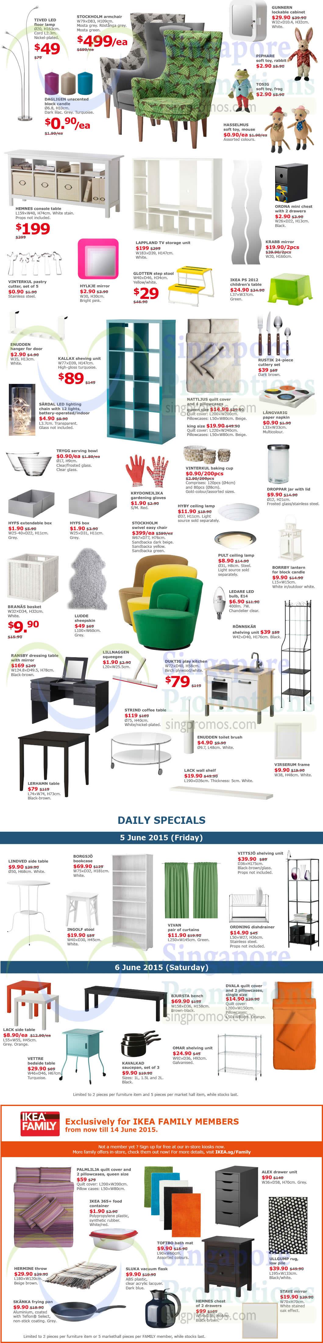 ikea ultimate offers promotion 5 6 jun 2015. Black Bedroom Furniture Sets. Home Design Ideas