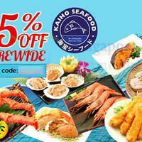 Read more about Kaiho Seafood 35% OFF (NO Min Spend) Coupon Code 27 - 28 May 2015