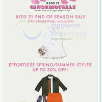 Read more about Kids 21 End of Season Sale From 1 Jun 2015