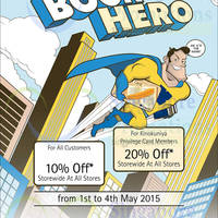 Read more about Kinokuniya Bookstores 10% OFF Storewide Promotion 1 - 4 May 2015