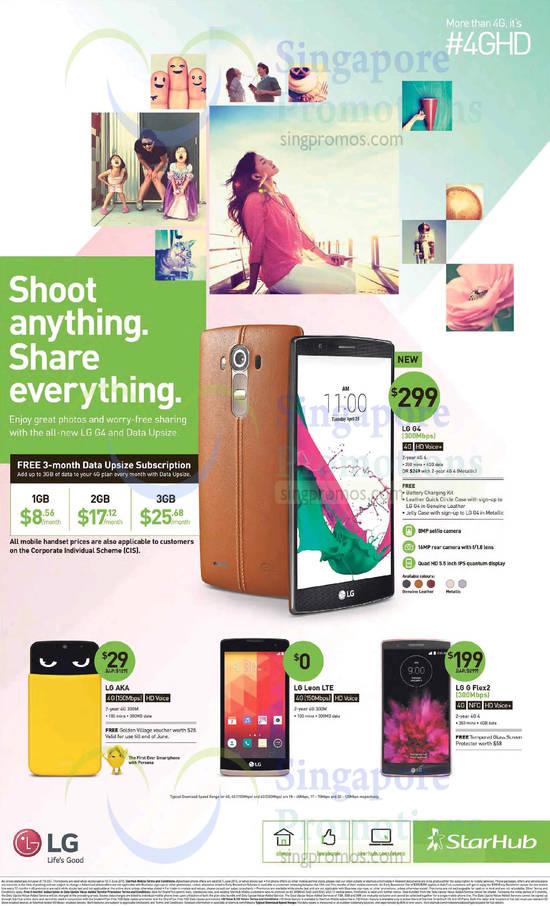 LG G4, LG AKA, LG Leon LTE, LG G Flex2