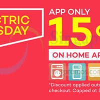 Lazada 15% Home Appliances Electric Tuesday 26 May 2015