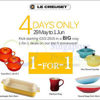 Le Creuset Buy 1 Get 1 FREE Special Deals 29 May - 1 Jun 2015