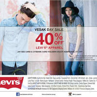 Read more about Levi's 40% Off All Apparel Promotion 29 May 2015