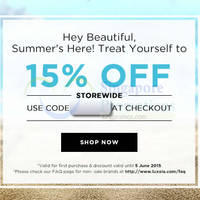 Luxola 15% OFF Storewide (NO Min Spend) Coupon Code 24 May - 5 Jun 2015