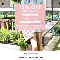 Read more about MDS Collections 15% OFF Storewide Promo 1 - 3 May 2015