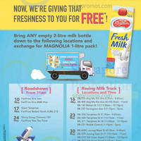 Magnolia Free Milk Packs For Empty Milk Bottles Exchange @ Roadshows 10 - 30 May 2015