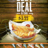 Manhattan Fish Market $3.99 Fish 'n Chips is BACK 27 - 29 May 2015