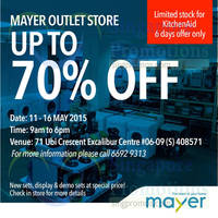 Read more about Mayer Outlet Up To 70% Off Promotion 11 - 16 May 2015